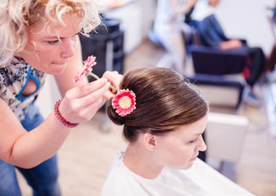 Auch Blumen im Haar